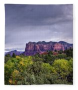 Storm Over Sedona  Fleece Blanket
