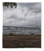 Straits Of Mackinac Fleece Blanket