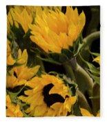 Sunflower Power Fleece Blanket