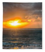 Sunrise At Kapaa - Kauai Fleece Blanket