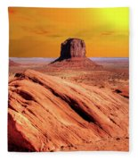 Sunrise Monument Valley Fleece Blanket