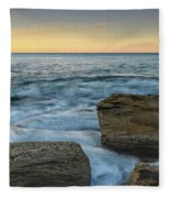 Sunrise On The Rocky Coast Fleece Blanket