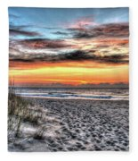 Sunrise Outer Banks Of North Carolina Seascape Fleece Blanket