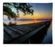 Sunrise Over Cayuga Lake Fleece Blanket