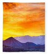 Sunrise Over Colorado Rocky Mountains Fleece Blanket
