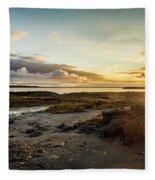 sunset Iceland Fleece Blanket