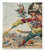Swallow Destroying The French Army, Fleece Blanket