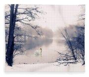 Swan Song  Fleece Blanket
