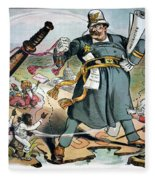 T. Roosevelt Cartoon Fleece Blanket