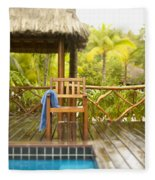 Tahiti Bora Bora Fleece Blanket