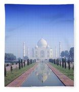 Taj Mahal View Fleece Blanket