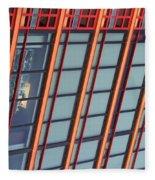Tall Building Showing Colors #2 Fleece Blanket
