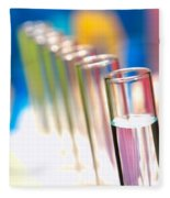 Test Tubes In Science Lab Fleece Blanket