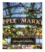 The Apple Market Covent Garden London Art Fleece Blanket