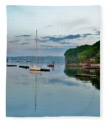 The Bass River At Dawn, Beverly Ma Fleece Blanket