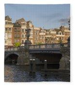The Bridges Of Amsterdam Fleece Blanket