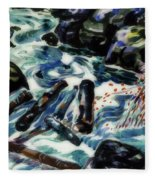 The Brook, Nova Scotia Fleece Blanket
