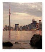 The City Of Toronto Fleece Blanket