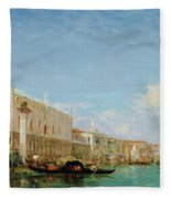 The Dock Of Slaves Fleece Blanket