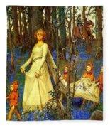 The Fairy Wood Henry Meynell Rheam Fleece Blanket