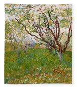The Flowering Orchard Fleece Blanket