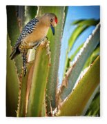 The Gila Woodpecker Fleece Blanket