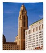 The Leveque Tower Of Columbus Ohio Fleece Blanket