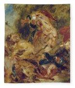 The Lion Hunt Fleece Blanket