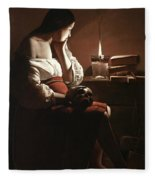 The Magdalen With The Smoking Flame Fleece Blanket