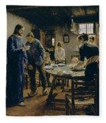 The Mealtime Prayer Fleece Blanket