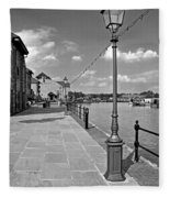 The Promenade At Barton Marina Fleece Blanket