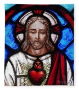 The Sacred Heart Of Jesus Fleece Blanket