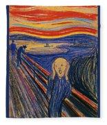The Scream Ver 1895 Edvard Munch Fleece Blanket