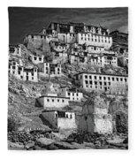 Thiksey Monastery Fleece Blanket