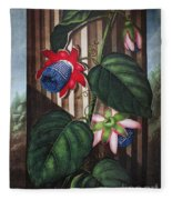Thornton: Passion-flower Fleece Blanket