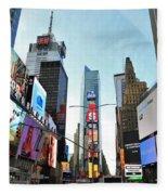 Times Square New York City Fleece Blanket