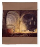 Turner Joseph Mallord William Transept Of Ewenny Prijory Glamorganshire Joseph Mallord William Turner Fleece Blanket