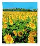 Tuscany Sunflowers Fleece Blanket