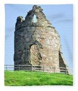 Tutbury Castle Ruins Fleece Blanket
