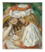 Two Girls Reading Fleece Blanket