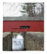 Uhlerstown Covered Bridge Fleece Blanket