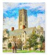 University Hall Fleece Blanket