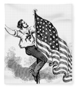 U.s. Flag, 19th Century Fleece Blanket