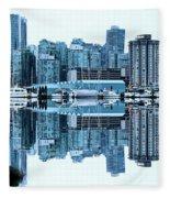 Vancouver Skyline Canada Fleece Blanket