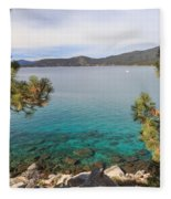 View Across Lake Tahoe Fleece Blanket