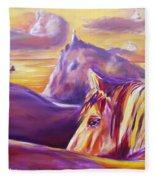Horse World Fleece Blanket