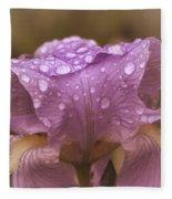 Vintage Iris Fleece Blanket