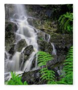 Waterfall In Cradle Mountain Fleece Blanket