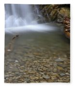 Waterfall, Quebec Fleece Blanket