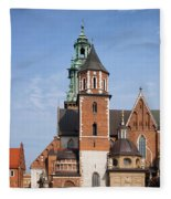 Wawel Cathedral In Krakow Fleece Blanket